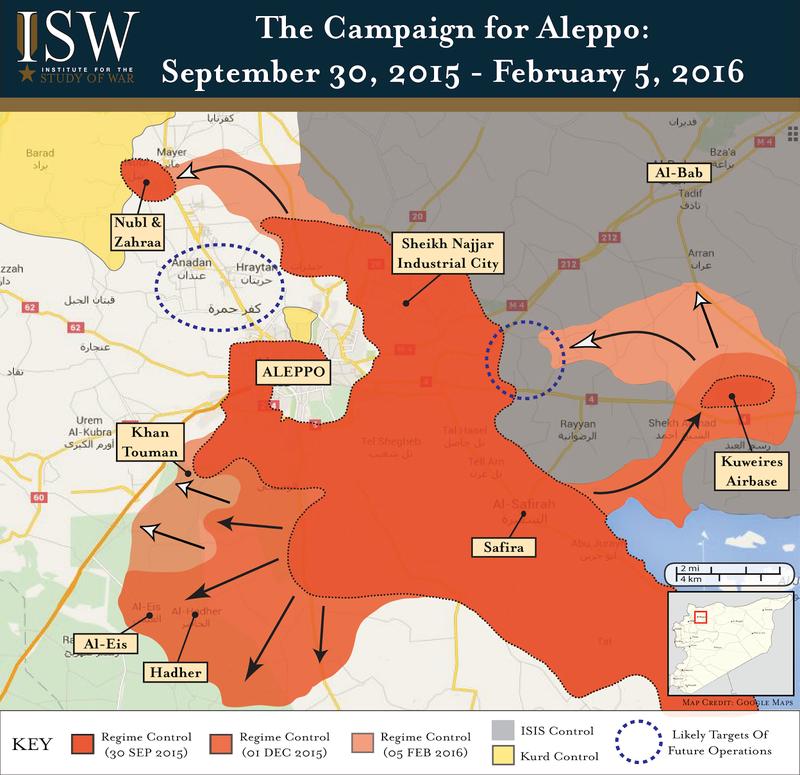 Regime Campaign - Aleppo FEB 2016-01
